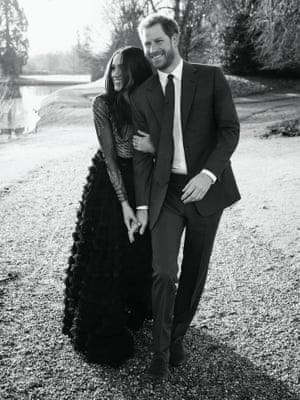 A third photo of the happy couple was also released.