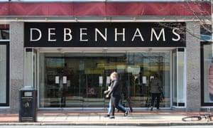 A Debenhams store in Belfast
