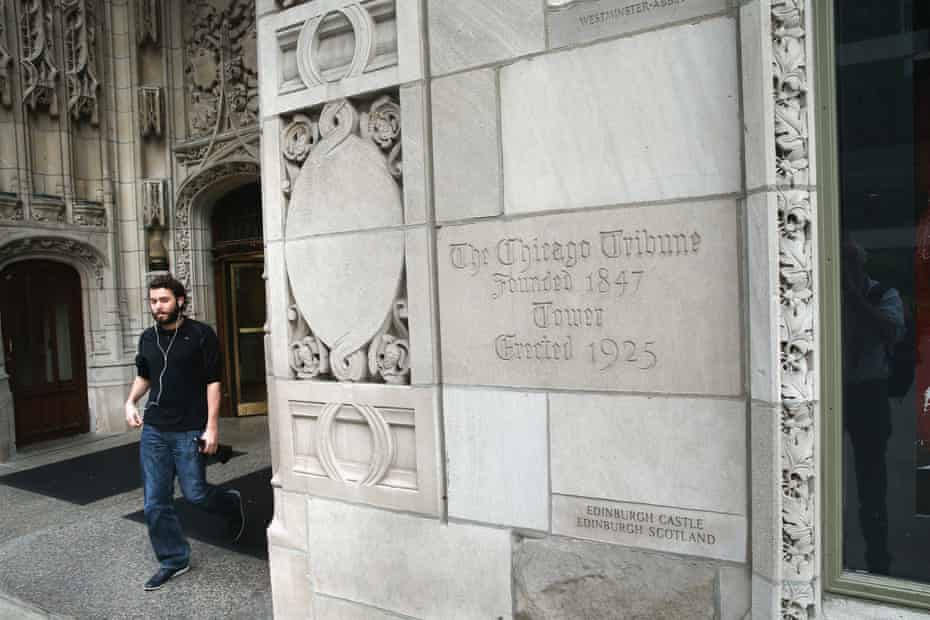 The Tribune Tower, home of the Chicago Tribune.