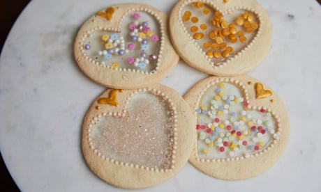 Kim-Joy's recipe for sugar glass heart biscuits