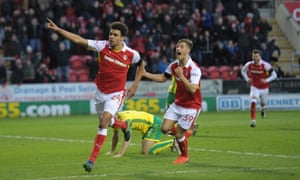 Tom Adeyemi scores the winner for Rotherham against his first club, Norwich City.