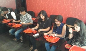 A session on dining etiquette at Panache image consultants in Mumbai.
