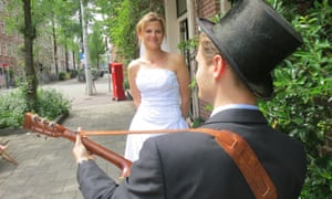 Julian serenaded his new bride after the wedding.
