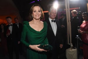 Sigourney Weaver and Jim Simpson at the Governors Ball.