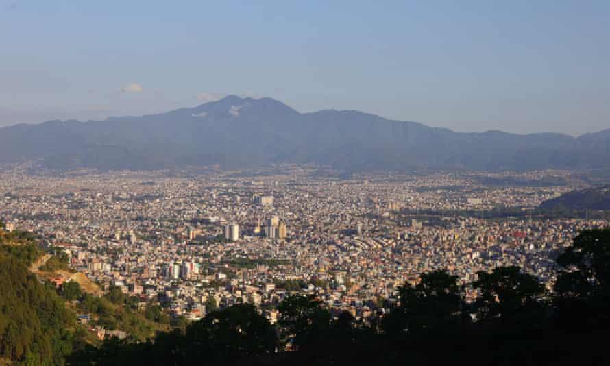 Clear skies above Kathmandu, Nepal, where air pollution has fallen.