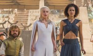 Loyal handmaiden … Emmanuel as Missandei with Emilia Clarke as Daenerys in Game of Thrones.