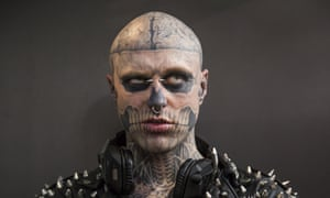 Rick Genest pictured at The Great British Tattoo Show in 2014.