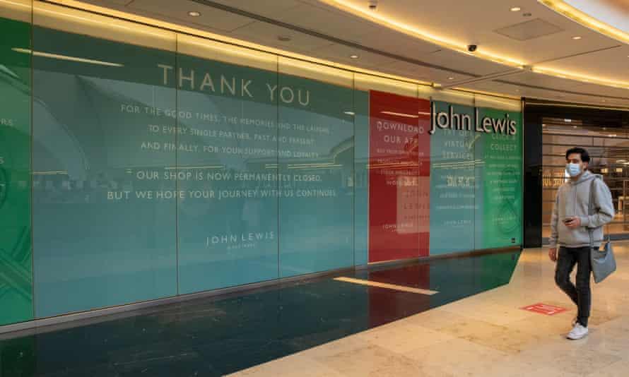 A closed John Lewis store in Birmingham.