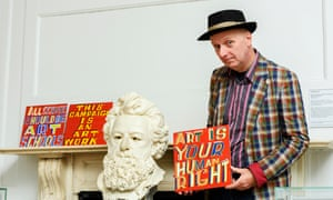 Bob and Roberta Smith at the Wiliam Morris Gallery