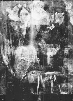 X-ray of Mark Gertler's Gilbert Cannan and His Mill from the Ashmolean Museum