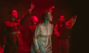 Wit and urgency … Charlotte Ryder, centre, in The War of the Worlds.