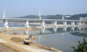 Sunk costs … Four Major Rivers project work at the Gangchon bridge and weir in Yeoju, South Korea.