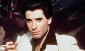 John Travolta as Tony Manero, the character based on Nik Cohn's Vincent, in 1977's Saturday Night Fever.