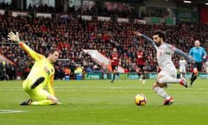 Salah scores a hat-trick.