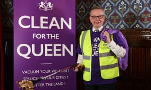 Michael Gove finds a rare piece of rubbish in Westminster.
