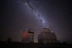 The Milky Way rises over Cerro Tololo Observatory in Chile.