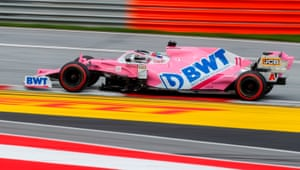 Perez sets the fastest lap.