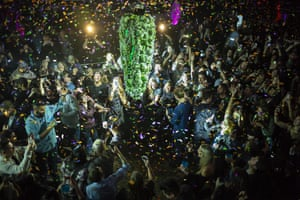 Toronto, CanadaPeople gather at midnight to celebrate the legalisation of recreational cannabis use