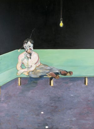 Study for Portrait of Lucian Freud, 1964 (oil on canvas)Francis Bacon, 1909-1992 Study for Portrait of Lucian Freud 1964 Oil paint on canvas 1980 x 1476 mm The Lewis Collectio