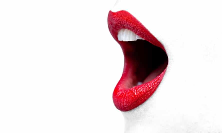 An open mouth.