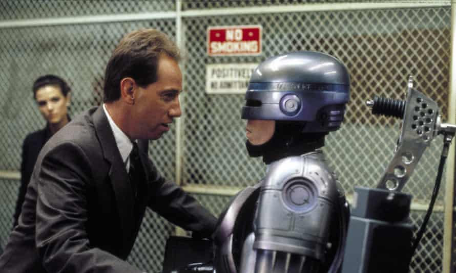 Miguel Ferrer as Bob Morton, the coke-snorting designer of the automated policeman, in RoboCop, 1987.
