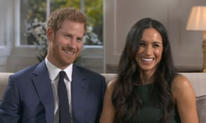 Prince Harry and Meghan Markle after the announcement of their engagement.