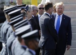 Donald Trump and Jeremy Hunt
