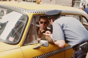 Robert De Niro in Taxi Driver, directed by Martin Scorsese in 1976 in New York.