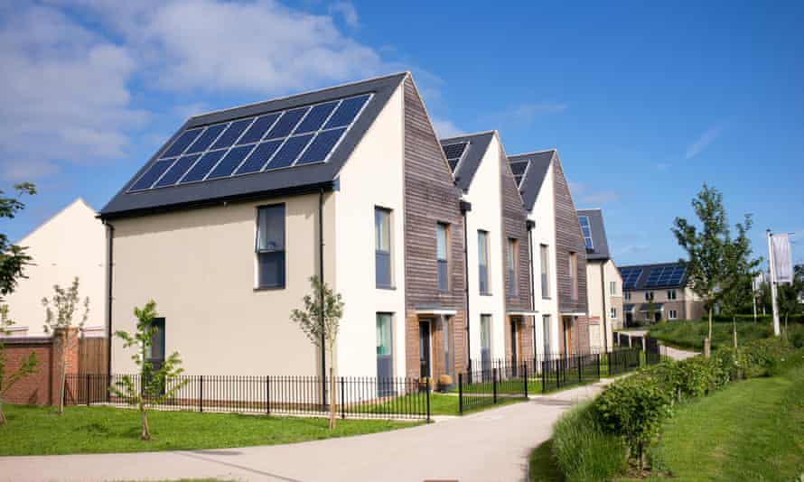 Contemporary sustainable living. Elmsbrook Eco Town houses in North West Bicester, Oxfordshire