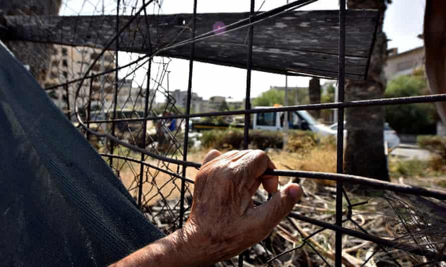 Fenced off area of Varosha, in Turkish-controlled northern Cyprus