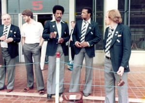 Brendon Batson, Cyrile Regis and Wayne Hughes on the tour.