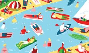 summer books illustration by oivind hovland