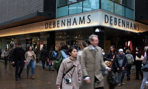 Debenhams in  Oxford Street, London.