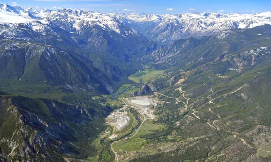 An aerial view of the Stillwater mine.
