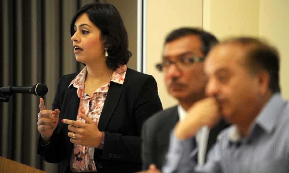 Sara Khan addresses a conference on safeguarding children and young people from radicalisation and extremism, at the Carlisle Business Centre in Bradford.