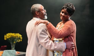 Lively, assured and well-acted ... Wil Johnson as Brod and Sarah Niles as Enid.