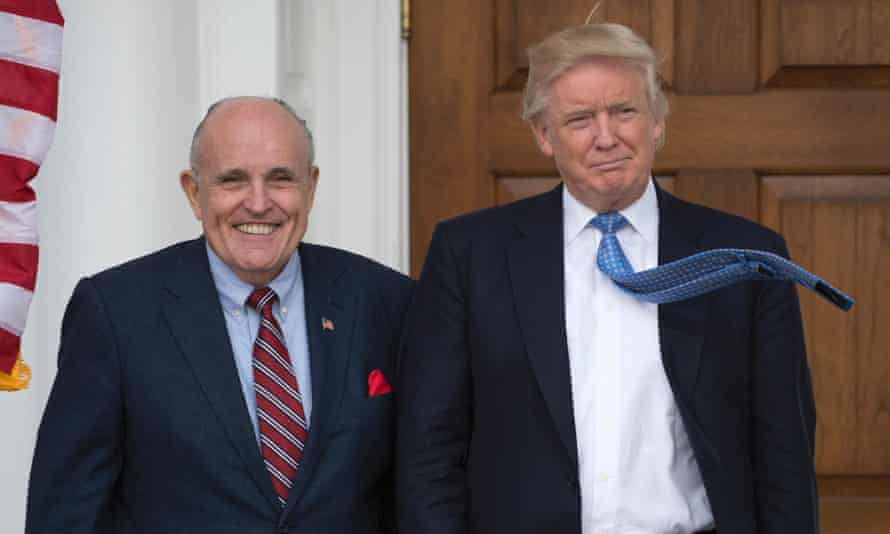 Trump with Rudy Giuliani, whom the president asked how to 'legally' create a Muslim ban.