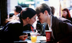 Minnie Driver and Matt Damon in Good Will Hunting.