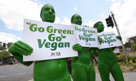 Animal rights activists in Brisbane, 2014.