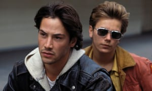 With Keanu Reeves in My Own Private Idaho (1991).