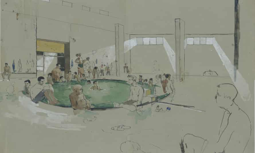 A Hamam in a town called Hamam al-Alil, about 20km south of Mosul, in another illustration by George Butler.