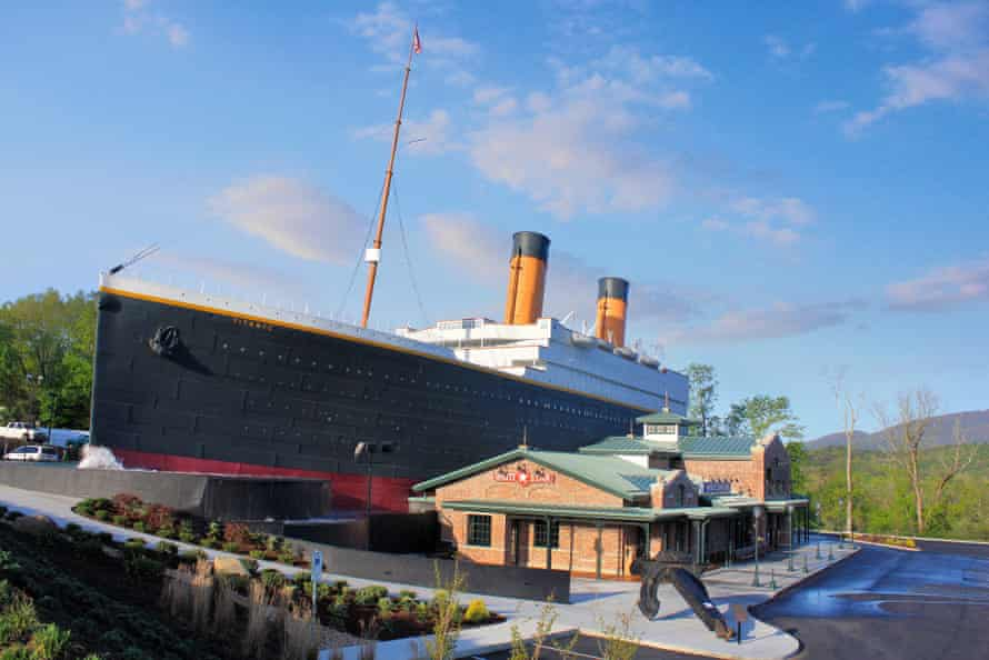 An exterior view of the Pigeon Forge Titanic attraction.