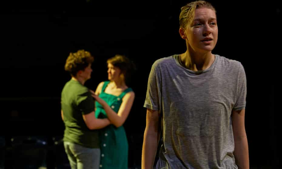 Fleeting moments of tenderness ... Tilda Wickham (foreground) and Zoe West and Lucy Briggs-Owen in Out of Water.