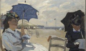 Beside the seaside ... The Beach at Trouville, 1870, Claude Monet (1840-1926).
