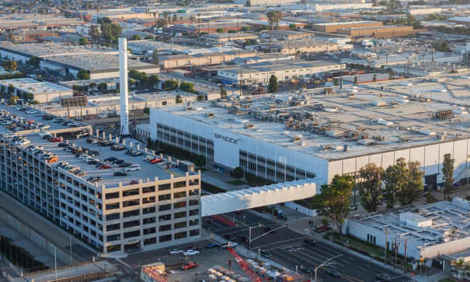 The SpaceX headquarters in Hawthorne, California.