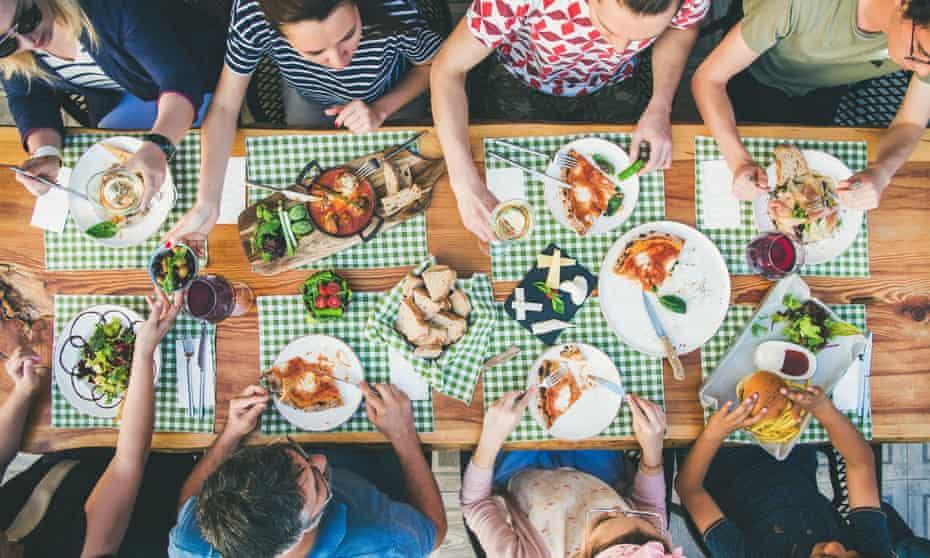 Family outdoor dinner.