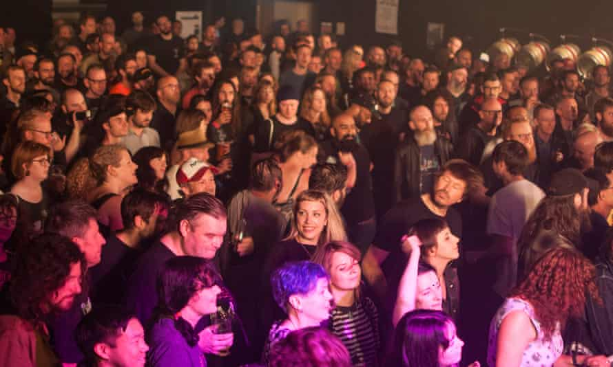 Revellers at the Supersonic festival in 2019