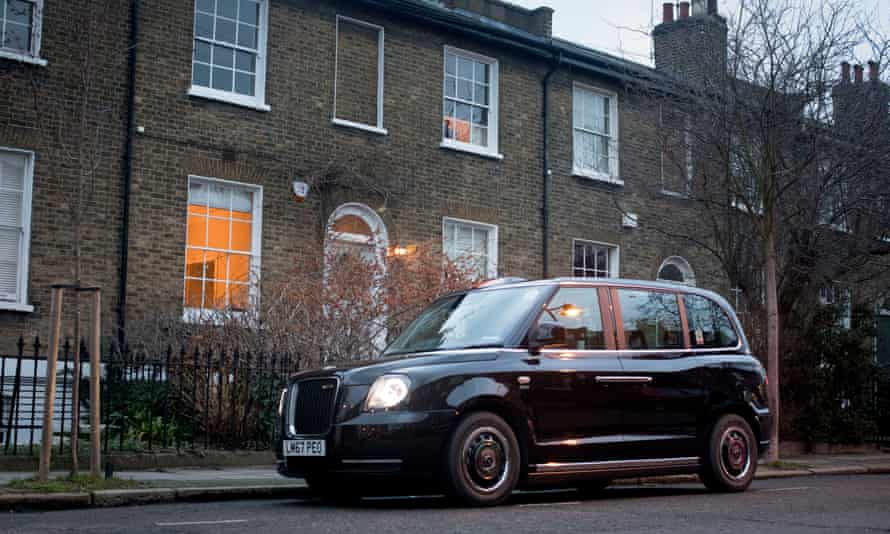 The LEVC electric black taxi cab, pictured on the streets of Islington, north London.