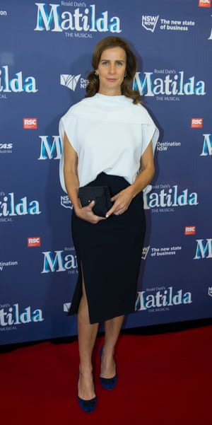 Rachel Griffiths at the Sydney premiere of Matilda the Musical, Lyric theatre, 20 August 2015.