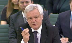 David Davis at the Brexit select committee